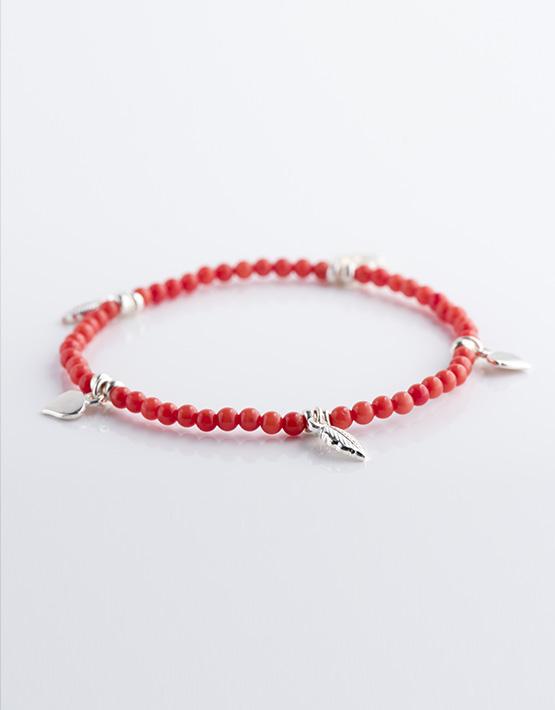 Stella Ambrata femme bracelet Bambou rouge