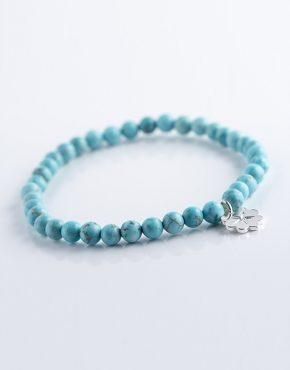 Stella Ambrata femme bracelet Howlite turquoise
