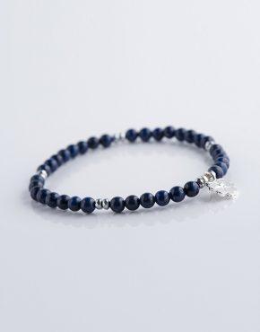 Stella Ambrata femme bracelet Lapis Lazuli avec hématite argenté