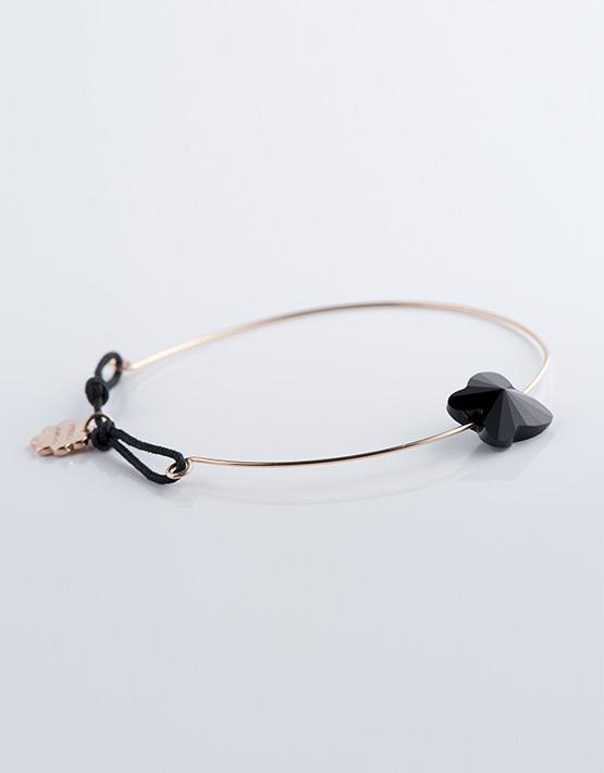 Stella Ambrata femme bracelet fil swarovski