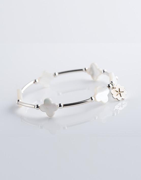 Stella Ambrata femme braceletlady flower